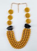 Colar Amarelo com Varias Formas