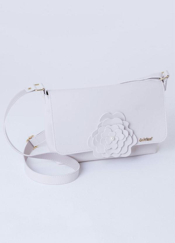 Bolsa Quintess (Off White) com Aplicação de Flor