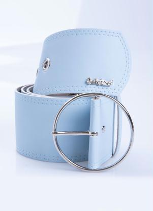 Cinto (Azul) Largo com Fivela Circular