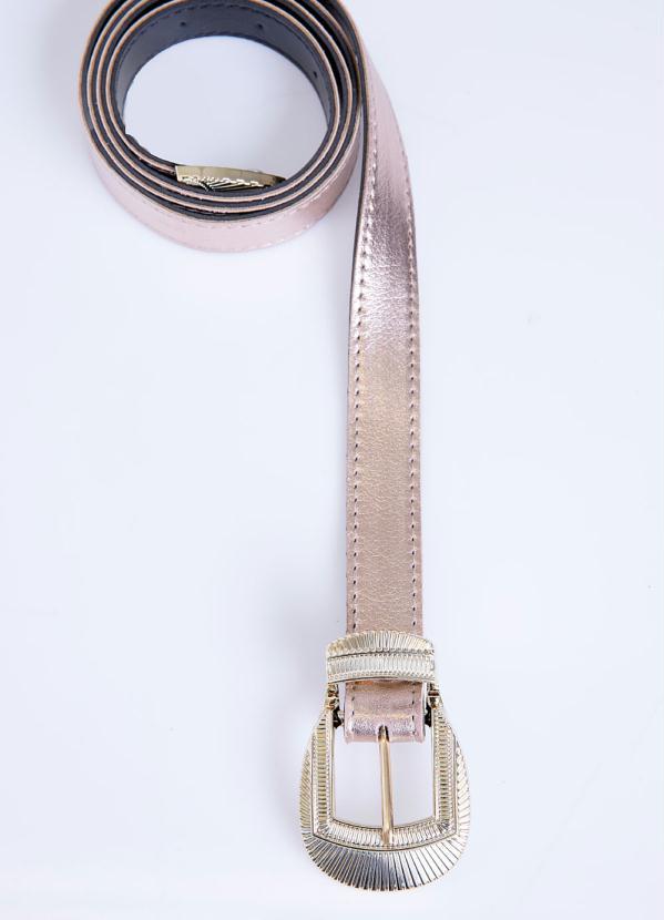 Cinto (Cobre) Metalizado com Fivela em Dourado