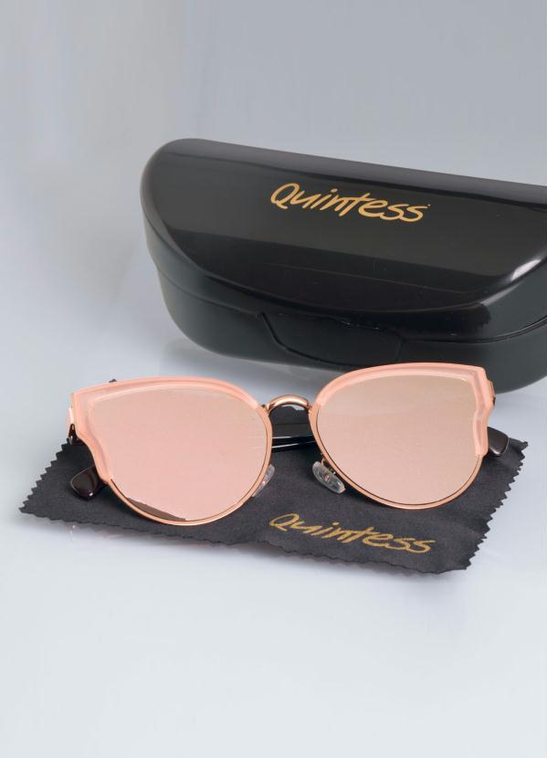 Óculos Espelhado (Rosê e Dourado) Quintess