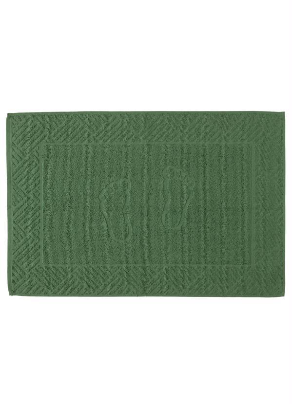 Piso Pezinho Felpudo (Verde) Jacquard (1 Peça)