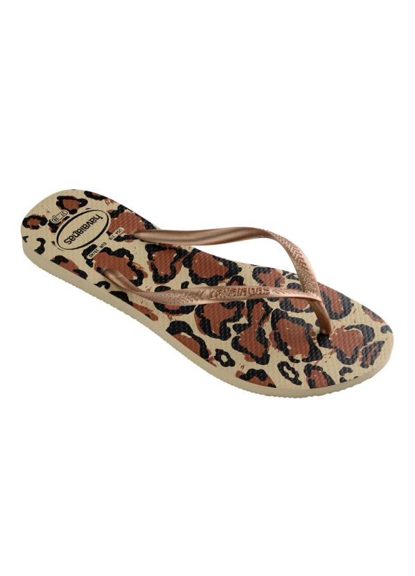 Chinelo Havaianas Slim Animals (Areia)