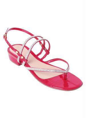 Sandália (Vermelha) com Brilhos Termocolantes