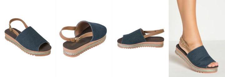 9331bb630e Score  0.0 Sandália Plataforma Jeans com Fivela