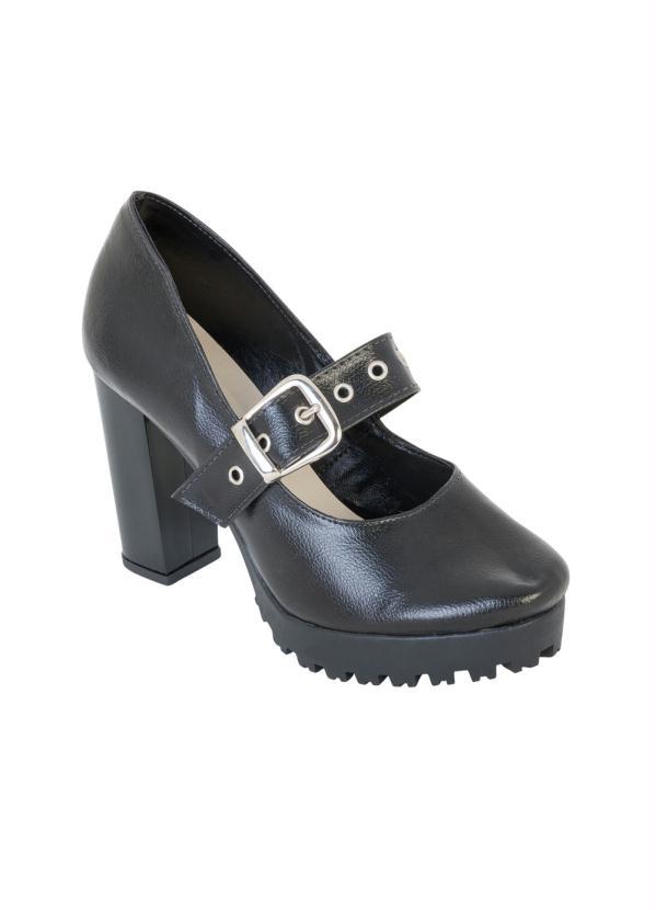 Sapato Meia Pata (Preto) Tratorado