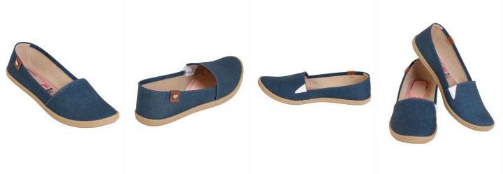 2bbc901b74 Score  0.0 Sapatilha Moleca Jeans com Elástico