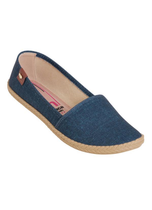 Sapatilha Moleca (Jeans) com Elástico