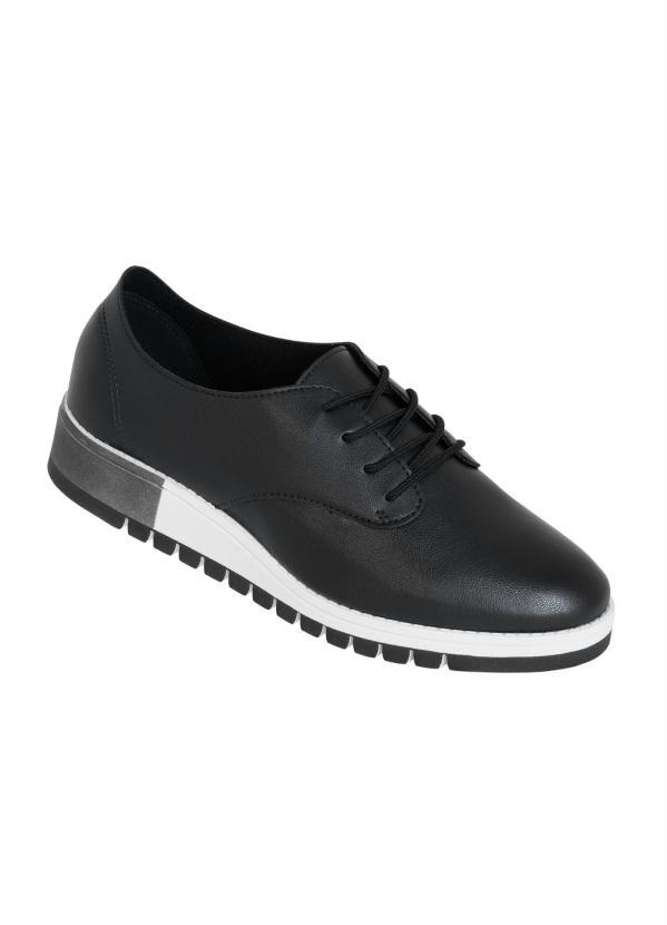 Sapato Beira Rio (Preta) com Solado Tratorado