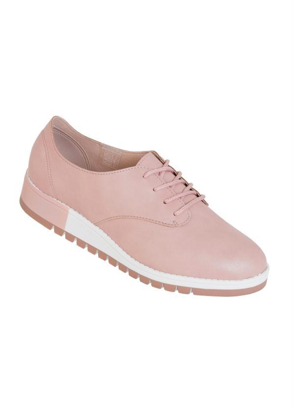 Sapato Beira Rio (Rosa) Modelo Oxford