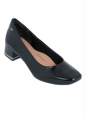 8b48f79e6 Sapato Dakota Preto com Salto Encapado - SouLojista