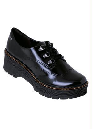 Sapato Oxford Dakota (Preto) em Material Sintético