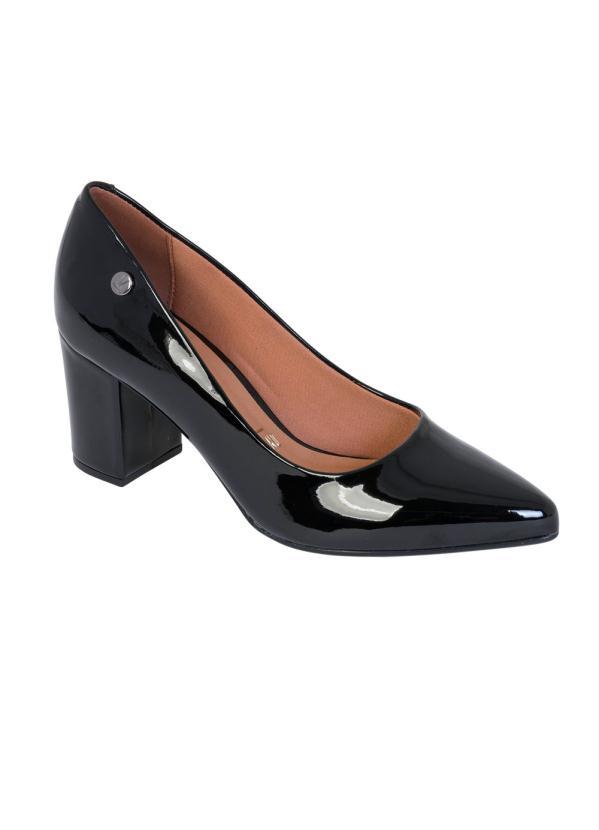 Sapato Vizzano (Preta) com Salto Quadrado