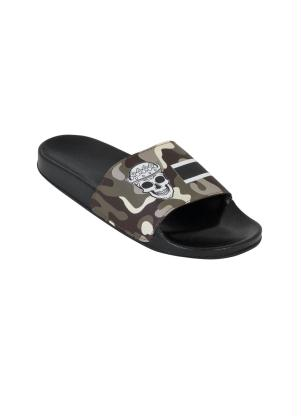 Chinelo Slide (Marrom) com Estampa Camuflada