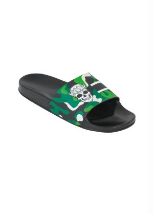 Chinelo Slide (Verde) com Estampa Camuflada