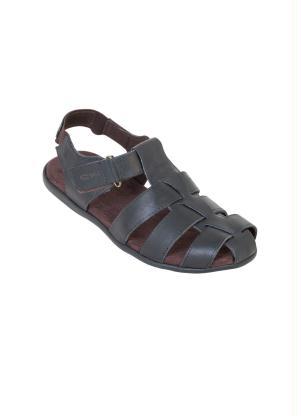 Sandália (Preta) com Velcro e Elástico