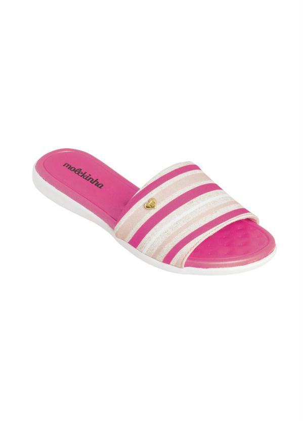 Chinelo Molekinha (Pink) em Sintético