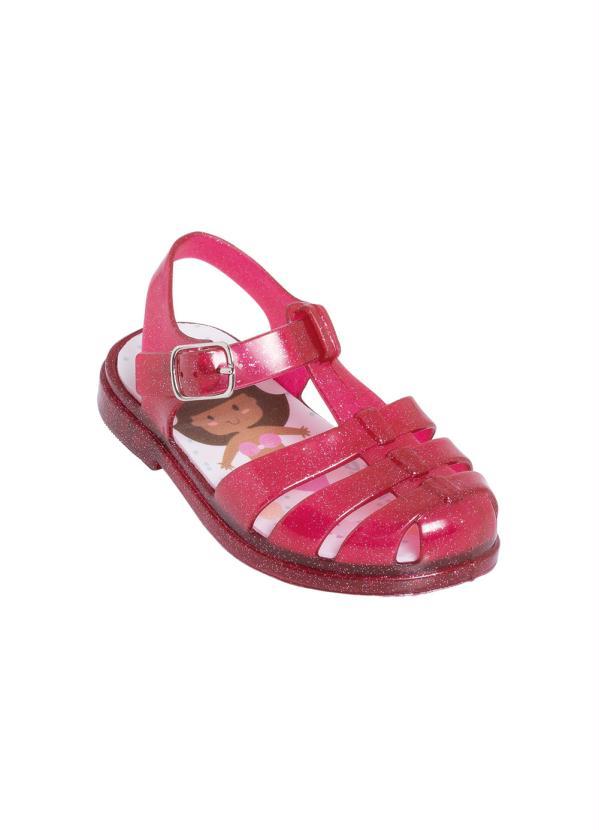 Sandália Infantil (Vermelha) com Glitter e Luzinha
