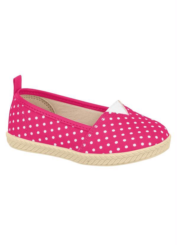 Sapatilha Molekinha (Pink) Estampa Poá