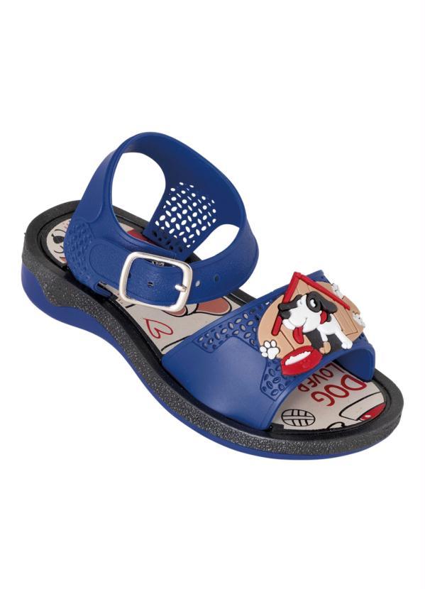 Sandália Infantil (Azul) com Palmilha Estampada
