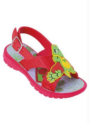 Sandália Infantil (Vermelha) com Aplique