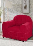 Capa de Sofá 1 Lugar Vermelha