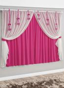 Cortina com Detalhes Pink 200 X 170 cm