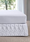 Saia Box Casal Hedrons Florata Branca