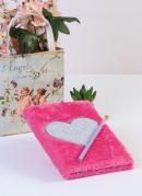 Caderno Coração Pink