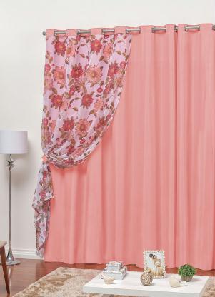 Cortina Flores (Rosa) 240x170 cm