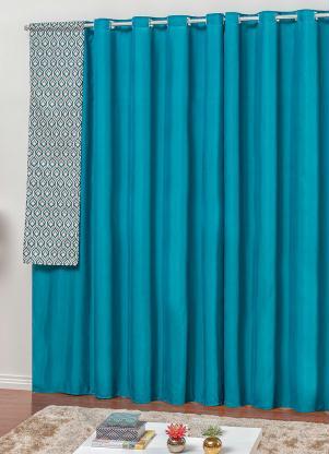 Cortina Rústica (Azul) 270x170 cm
