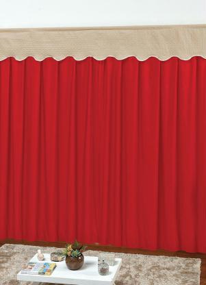Cortina com Bandô (Vermelha) 240x170 cm
