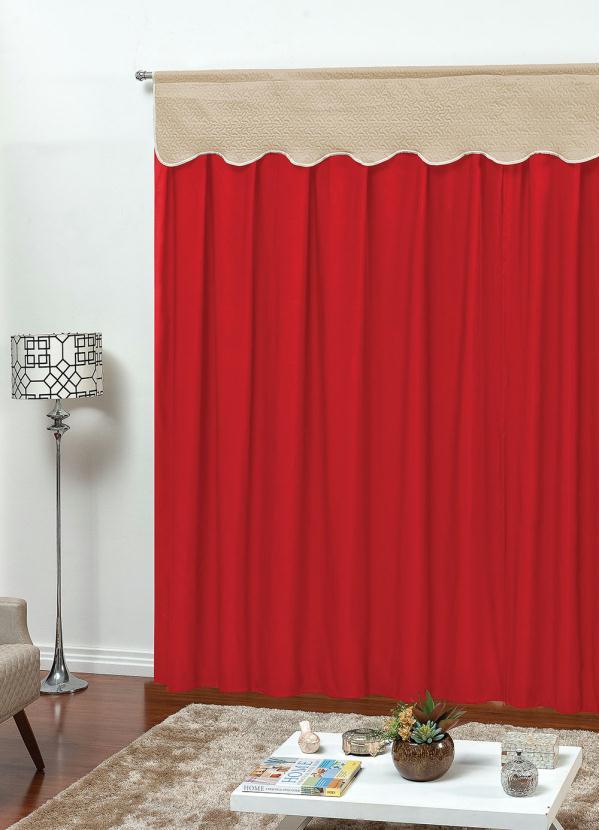 Cortina para Porta com Bandô (Vermelha) 410x250 cm