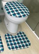 Jogo de Banheiro Tecil 3 Peças Xadrez