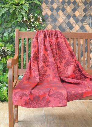 Manta (Vermelha) Jacquard (1 Peça)