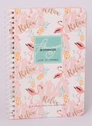 Caderno Flamingos e Abacaxi Branco