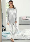 Pijama Conjunto com 2 Peças Cinza
