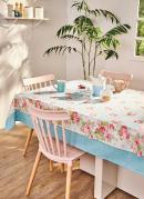 Toalha de Mesa Quadrada Floral Lepper