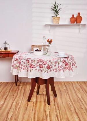 Toalha de Mesa Redonda Floral Lepper