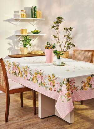 Toalha de Mesa Retangular Floral Lepper