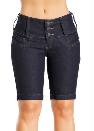 Bermuda Jeans Feminina (Azul)