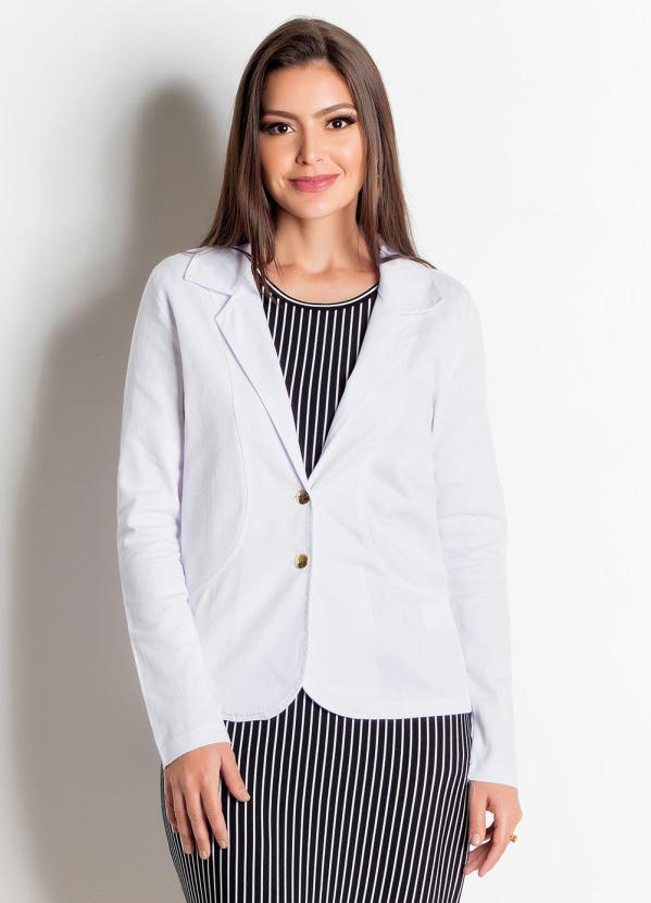 Blazer (Branco) em Sarja Moda Evangélica