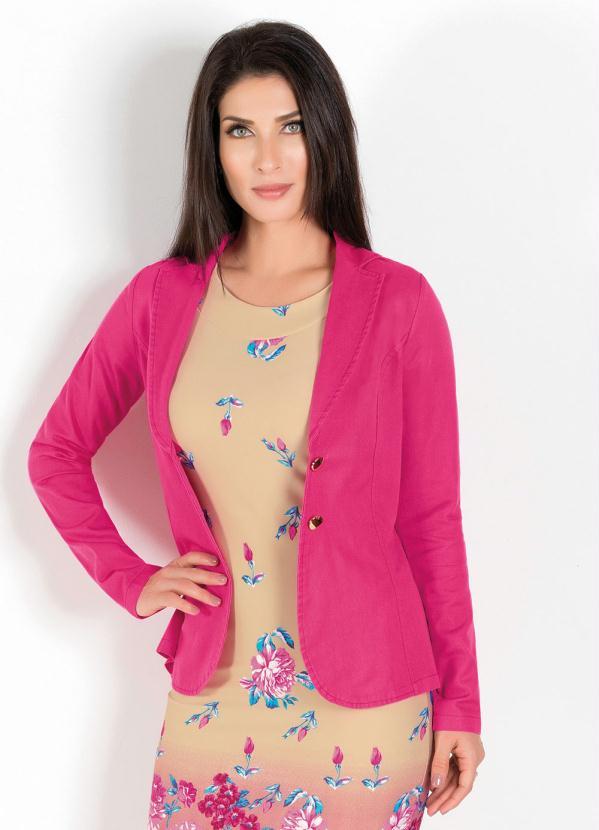 Blazer Clássico (Rosa) Moda Evangélica