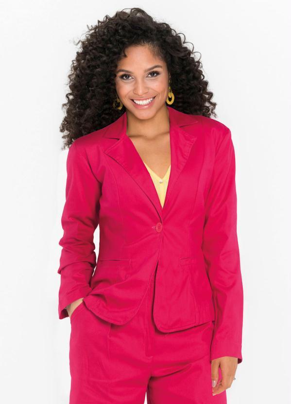 Blazer Leve de Alfaiataria (Rosa Pink)
