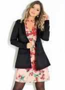 Blazer Preto Recorte Central nas Costas