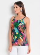 Blusa com Alças Tropical