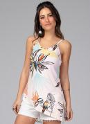 Blusa Floral com Regulagem nas Alças