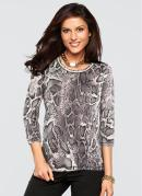 Blusa Animal Print Cobra Bege