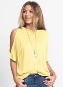 Blusa com Ombros Vazados Amarela