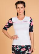 Blusa Fitness Moda Evangélica Floral